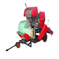 El ensilaje de paja hidráulico automático Máquina de prensa de balas/paquete de la Ronda de tallos de maíz ensilado