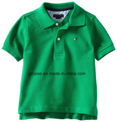 100% algodão Custom Kids meninos camisa Polo manga curta