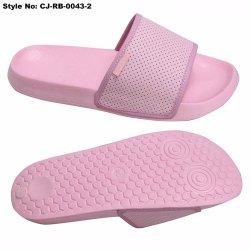 Nouvelle PU Semelle EVA de conception supérieure de la diapositive sandale Diapositive OEM sandale plage noire pantoufle personnalisé