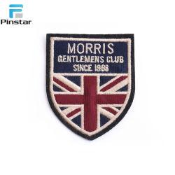 Coser la bandera del Reino Unido en el bordado del logotipo personalizado insignia parches