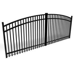 De Glijdende Poort van het Ontwerp van de Poort van het smeedijzer met Aangepaste Stijlen