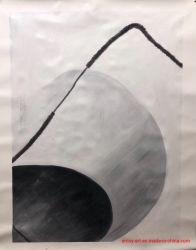 De met de hand gemaakte Eenvoudige Moderne Abstracte Kunst van de Stijl in Zwart-witte Kleur