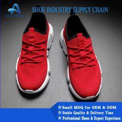 Neue Form-Breathable Ineinander greifen-obere materielle weiche Sport-Turnschuh-beiläufige kühle Mann-Schuhe und laufende Schuhe