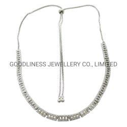 Il disegno speciale e le 925 pietre fragili della CZ dell'argento sterlina comerciano le collane all'ingrosso (N6900)