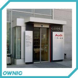 Porte coulissante en verre automatique de la SS304 le châssis du jeu complet pour les banques, de la station d'huile, les édifices commerciaux