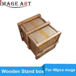 Scatola dell'imballaggio della tazza con il basamento di legno per lle tazze delle 48 parti