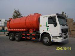 HOWO 6X4 شاحنة شفط نفايات عجلات 10 عجلات، مركبة ناقلة صرف، 8000L-20000L
