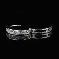 Or Huggie Diamond Circle Earrings pour les femmes Mjce038