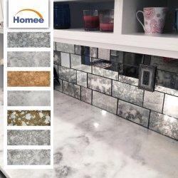 Il sottopassaggio dell'albergo di lusso copre di tegoli all'ingrosso il mosaico decorativo di vetro dello specchio di disegno