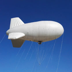 Outdoor Longue Endurance dirigeable captif hélium d'amarrage Airship Non-Rigid avions pour mission de surveillance de l'antenne