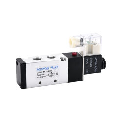 DC24 فولت/12 فولت من النوع الفردي G1/4 بوصة الملف اللولبي الخاص بالسنون من نوع ′ صمام الحركة المجردة 4V310-08/10