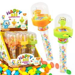 プラスチックバスケットボールの卸売はシャントウの菓子キャンデーのおもちゃからのキャンデーをもてあそぶ