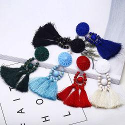 Крошечные Tassel серьги для женщин мода украшения Vintage бархата шарик заявление, окаймлённых Drop Earring женского украшения 2018 новых