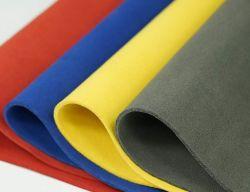 جلد صناعي مخصص من الألياف الدقيقة الأسود والرمادي للحقائب والأحذية والقراعات وبطانة
