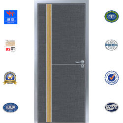 Wasserdichtes Oberflächenaluminiumprojekt-hölzerne Tür (ED-TA-006)