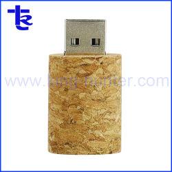 Hölzerner USB-Stock-Wein-Korken-Stock-Blitz-Feder-Laufwerk-Fahrer