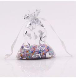 fait sur mesure en forme de coeur sacs-cadeaux Organza ruban de satin organza Sac avec lacet de serrage pour l'Emballage de cadeau de vacances