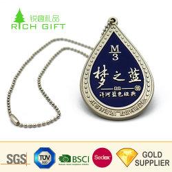 Personalizado de alta calidad de aleación de zinc metal impresas por sublimación de la etiqueta de identificación de mascotas con caja de regalo