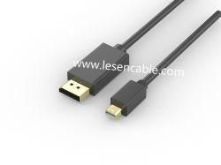 Câble displayport, displayport mâle vers mini displayport mâle audio / vidéo numérique