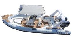 7,6m 24,9 Fuß China Aufblasbares Boot Hersteller Rib Boot Fiberglass Yacht Rib Boot Angeln Boot Aufblasbare Boot Tauchboote Aufblasbar Yacht