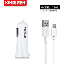Voiture camion Dual 2 Port USB Mini adaptateur chargeur de voiture +Câble Micro pour Huawei Samsung Galaxy Note Xiaomi