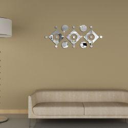 미러 소파 거실 훈장이 DIY 미러 효력 3D 벽 스티커에 의하여 집으로 돌아온다