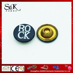 Impressão de seda rebites de latão de metal do tipo de rebite da PAC para as calças jeans