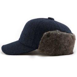 BSCI Earflap de gros de la vérification de la laine de la chasse Hat équipé fausse fourrure douce Casquette de baseball d'hiver