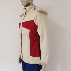 أزياء أنيقة للنساء المزاعات الشتوية الملابس البيضاء / الحمراء مقاومة للماء والرياح جاكيت غير رسمي مضاف لباس