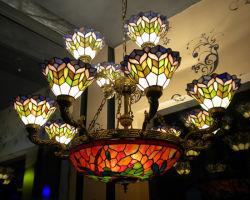 Lampada del soffitto di Tiffany della decorazione dell'ingresso della costruzione domestica