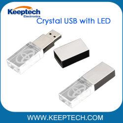 Kristall USB mit Laser-Firmenzeichen und LED-Beleuchtung