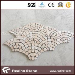Commerce de gros bon marché en forme de ventilateur de la Chine avec tapis de pierre de pavage de granit