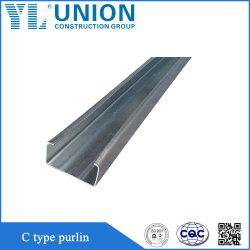 Acero galvanizado de alta resistencia C Purline techo Purline marco de la sección