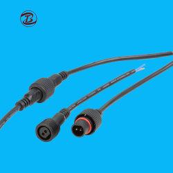 Comprimento de ajuste livre conector impermeável IP67 plugue do cabo de 4 Pinos