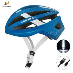 2021 Sicherheits-komprimierender Sturzhelm tauschen des MTB Fahrrad-Sturzhelm-Straßen-BergBMX für Stadt elektrischer Roller-erwachsenes Fahrrad-Reiten mit USB-aufladenden warnenden Rücklichtern aus
