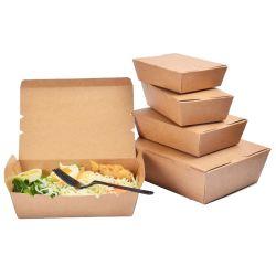 Настраиваемый логотип печати из переработанных одноразовые крафт-бумаги в салоне закуска в салоне Хамбюргер Hot Dog Бургер жареный цыпленок стружки обед в кафе быстрого питания упаковке упаковки