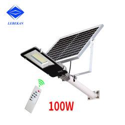 Para Jardín de hierro fundido automático de la autopista LED 50W Luz solar calle