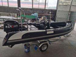 Pés 15.74.8M Casco rígido de fibra de barco inflável Hypalon com GPS Concurso Hand-Made Barco Barco de luxo com certificação CE aprovado Barco de Pesca do Mar para venda