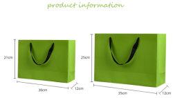 Papel de luxo pega o pacote saco, Dom Saco com fita de papelão Branco Saco de papel
