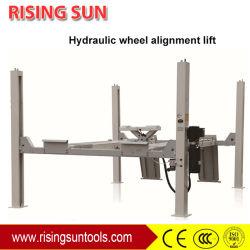 Déverrouillage hydraulique de levage de roue à 4 postes de l'alignement pour l'atelier de voiture