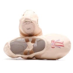 Chaussures brodé Bow Yoga Satin PG/Ballet en cuir souple semelles de chaussures de Danse Ballet
