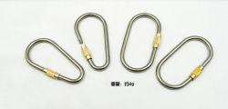 Résistant en titane de la porte d anneau Spring-Loaded clips crochet pour Accueil Camping Randonnée Pêche Voyager