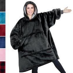 Sweatshirt mit Sherpa-Futter weich warm für Kinder und Erwachsene Kapuzendecke