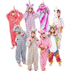 Bambini Pajamas animale flannello Unicorn Onesie Pajamas
