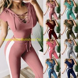 Manchon court yoga s'adapter à la fabrication de costumes d'usure de jogging de salle de gym pour les femmes
