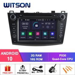 Processeurs quatre coeurs Witson Android 10 DVD de voiture GPS pour Mazda 3 2010-2011 OBD2 Connexion Bluetooth