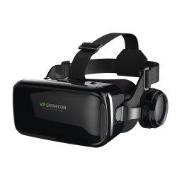Fone de Ouvido Vr a Realidade Virtual Fones Shinecon Vr para filmes de jogos vídeo óculos 3D para iPhone jogos Android