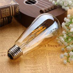 Birnen-Licht der LED-Heizfaden-Birnen-energiesparendes Lampen-St64 12W LED mit Cer RoHS dekorativer Glühlampe-birnenförmiger Kugel-Lampe