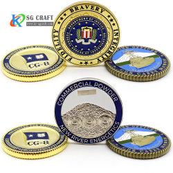 La fabbrica diretta che vende la sfida del ricordo placcata argento commemorativo dell'oro di moneta non conia ordine minimo