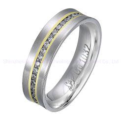 18K金の真珠の宝石類のリングのステンレス鋼の宝石類のリングの緑